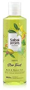 サバイアロム(Sabai-arom) ゼスティ スターフルーツ バス&シャワージェル (ボディウォッシュ) 250mL【ZSF】【002】