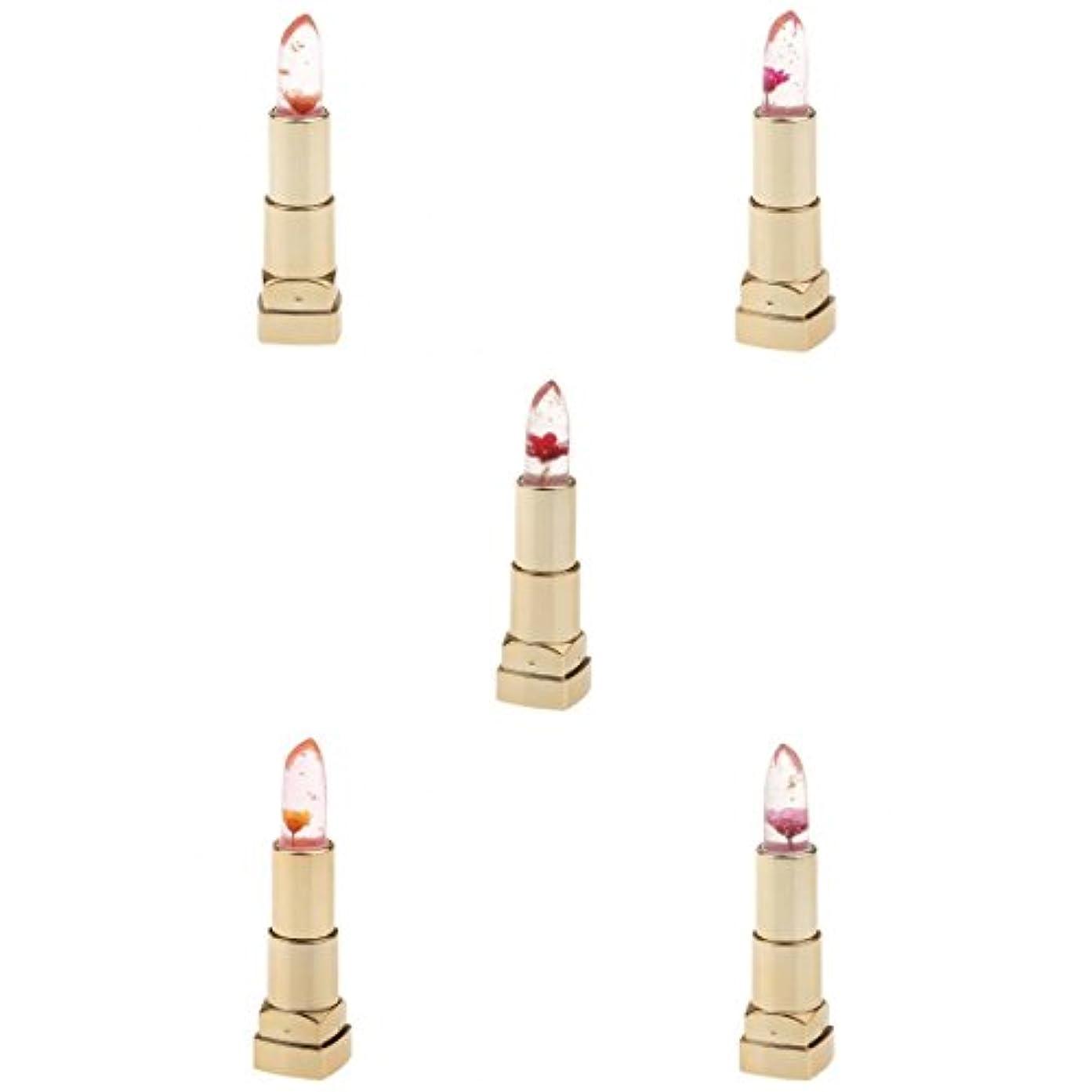 地中海無秩序割り込み温度変化口紅 フラワー リップスティック メイクアップ 潤い 3個セット - #1