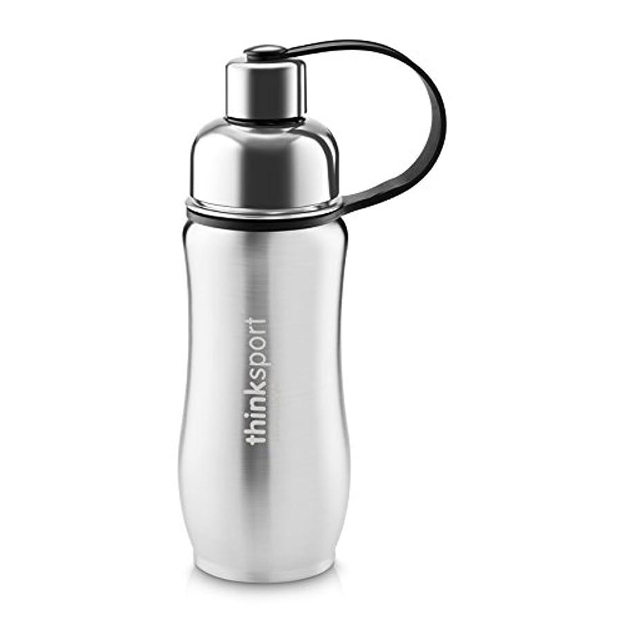 プロフィール平衡グリースThinkSport Sports Bottle (12oz) - Silver by organicKidz