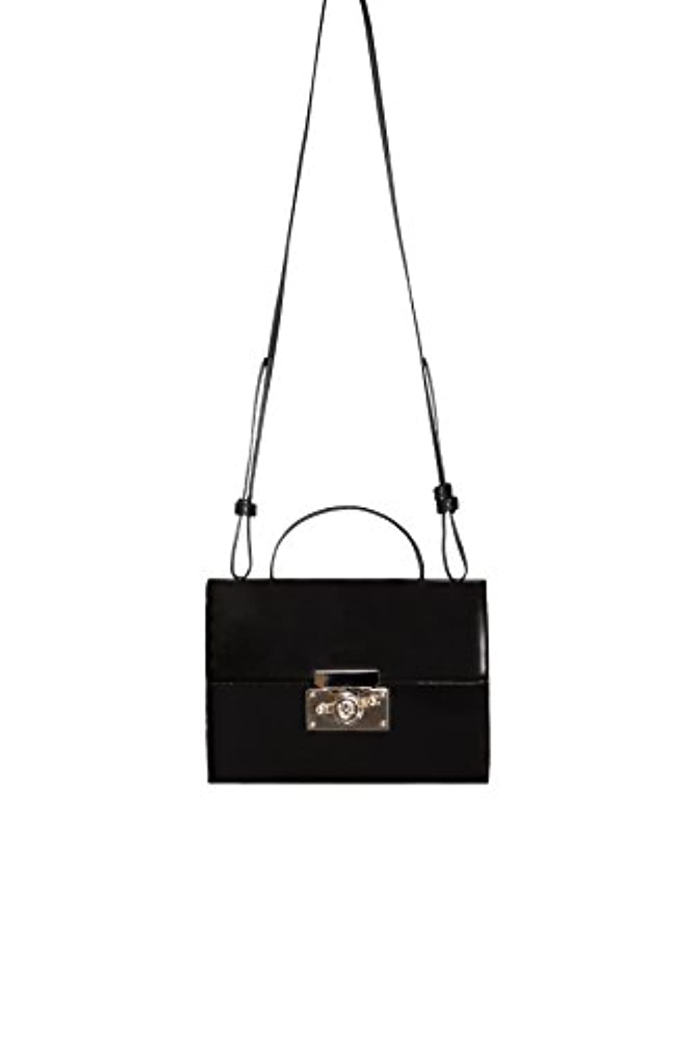 Subella London Black Leather 5 compartment structured tote with detachable shoudler strap Sabrina Handbag handmade...