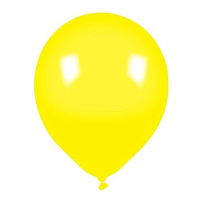 SODIAL(R) バルーン パックの8インチイエローラテックスバルーン - エアまたはヘリウム充填