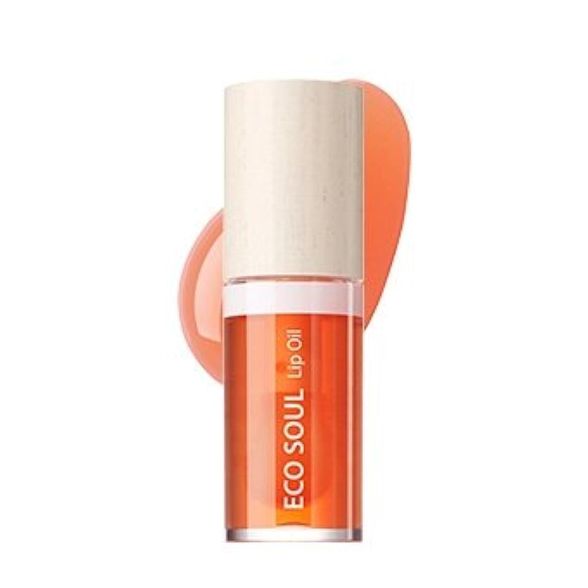 氏ブロッサム続編the SAEM Eco Soul Lip Oil 6ml/ザセム エコ ソウル リップ オイル 6ml (#03 Grapefruit) [並行輸入品]