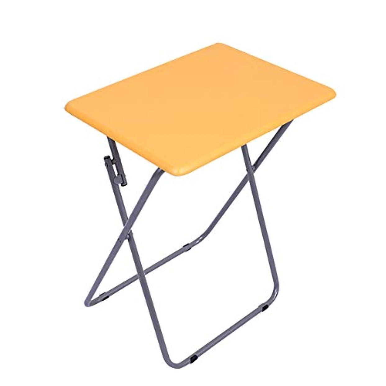 ツイン南愛情折り畳みテーブル アウトドア キャンプ ラップトップテーブル、 多機能 ポータブル ピクニック バーベキュー ダイニングテーブル、 屋内 オフィス,Orange,48*38*66Cm