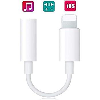 iPhone Lightning-3.5mm イヤホン ヘッドフォ ンジャック アダプタ iPhone イヤホン 変換 アダプタ 音楽再生 通話不可 iPhoneXs/Xs max/Xr/8/8plus/7/7plus(IOS11、12対応)