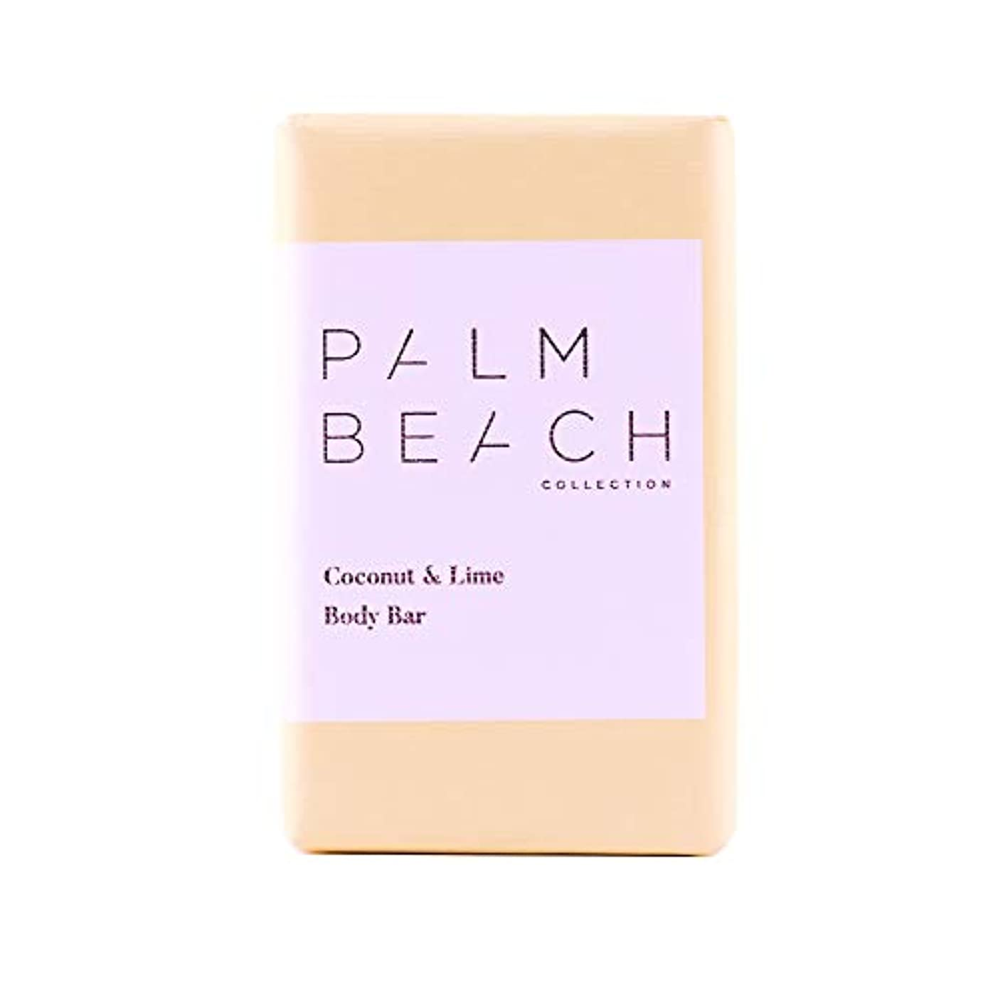 フォームがっかりした疎外パームビーチコレクション ボディ バー ココナッツ&ライム 200g