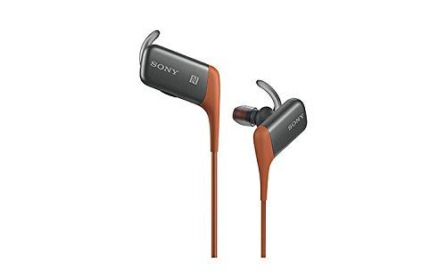 SONY スポーツ向けワイヤレスイヤホン 防滴仕様 Bluetooth対応 マイク付 オレンジ MDR-AS600BT/D