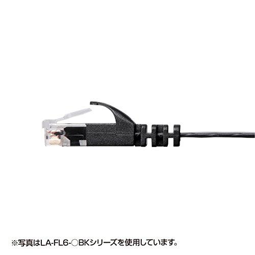 サンワサプライ カテゴリ6 フラットLANケーブル 10m ホワイト LA-FL6-10W