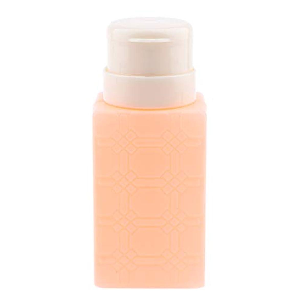 テープしっかりアライメント200ml ネイルアート ディスペンサーポンプボトル ネイルサロン 4色選べ - オレンジ