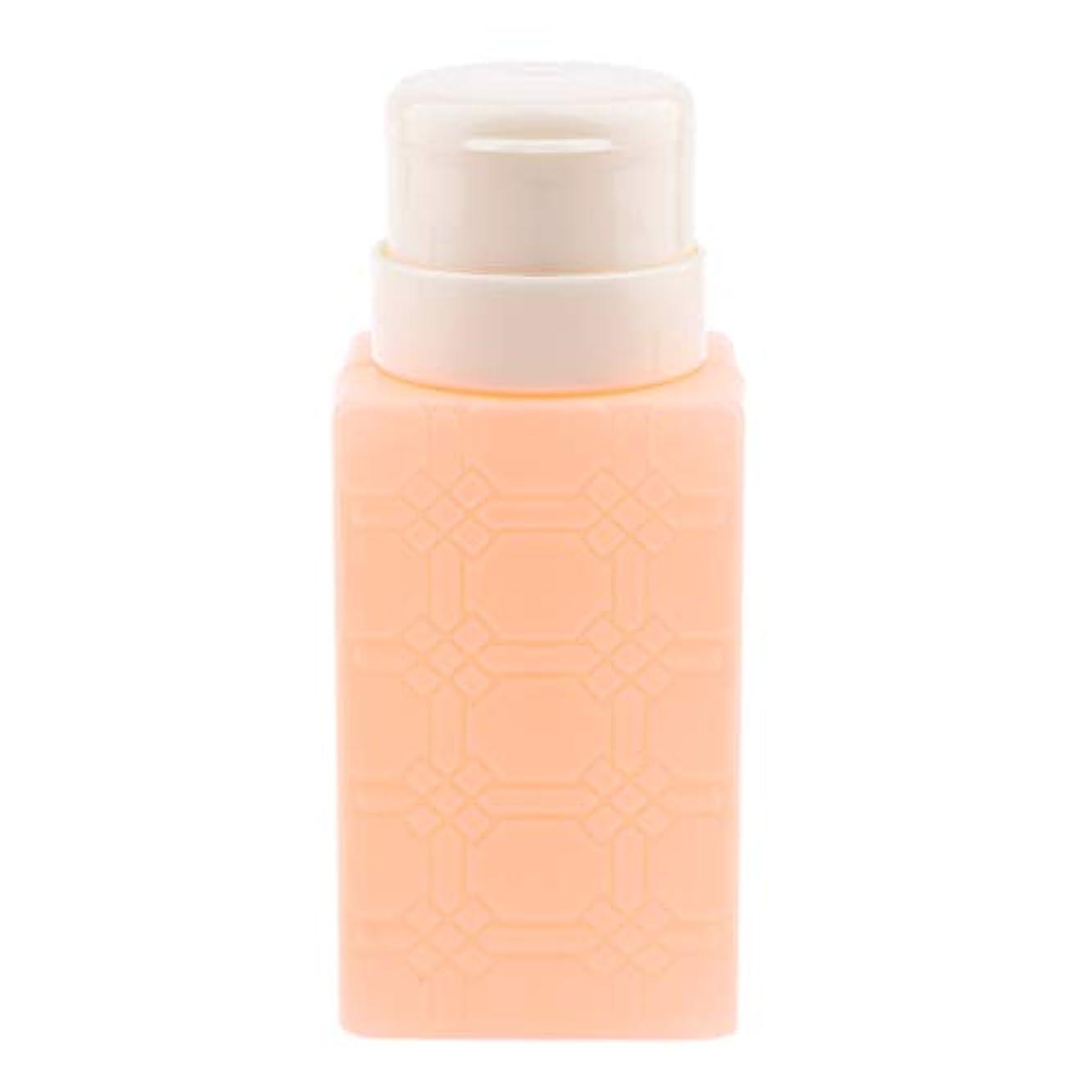 対処不完全眩惑するP Prettyia 200ml ネイルアート ディスペンサーポンプボトル ネイルサロン 4色選べ - オレンジ