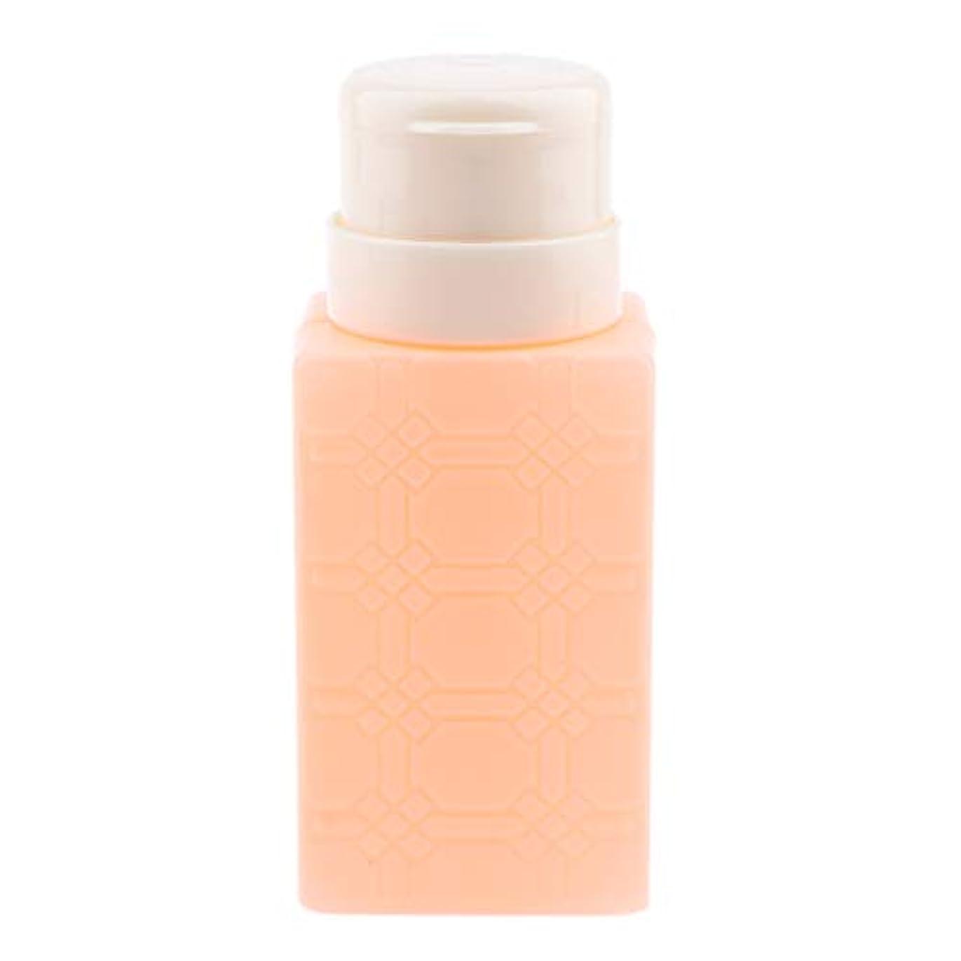 謝る長くする200ml ネイルアート ディスペンサーポンプボトル ネイルサロン 4色選べ - オレンジ