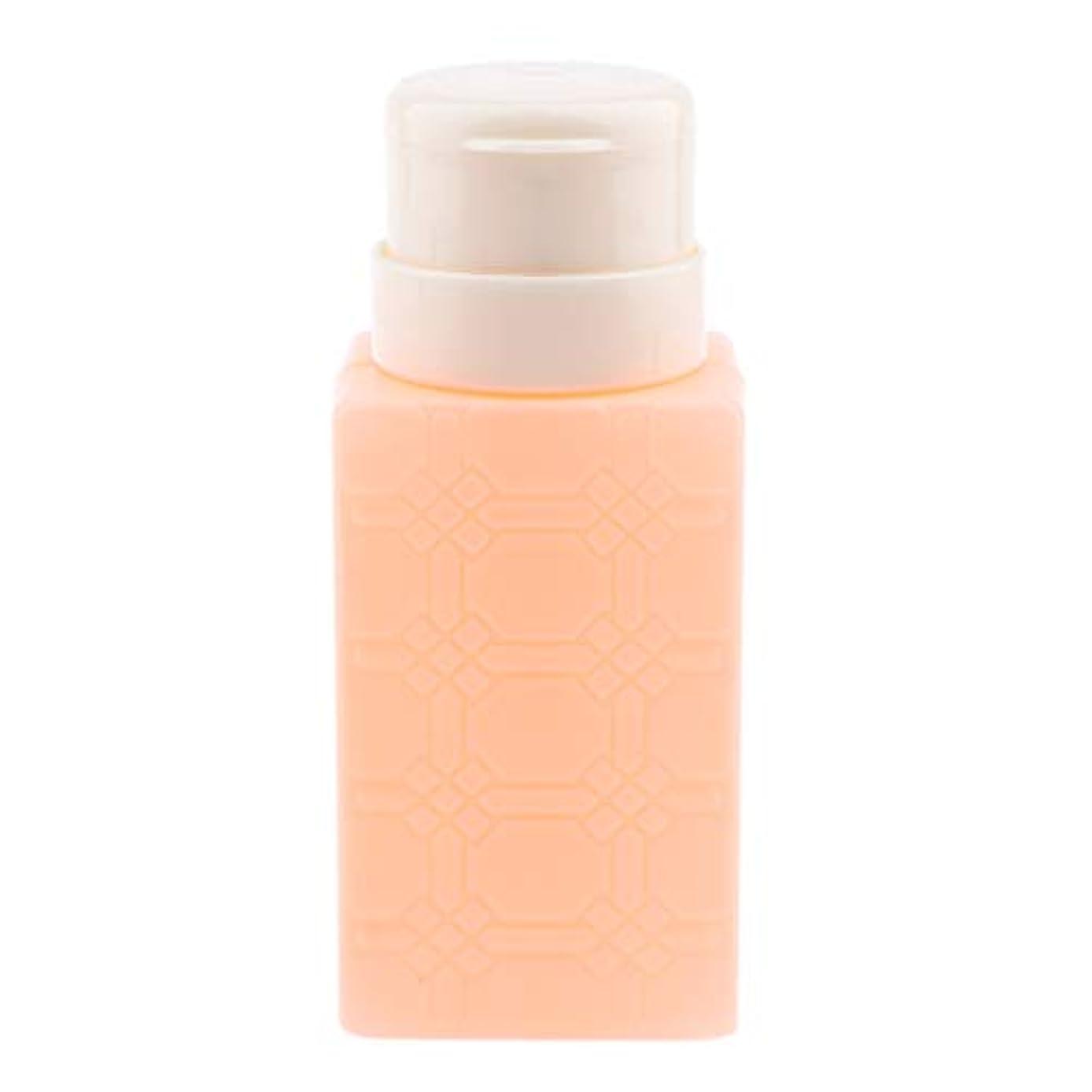 語抜本的な聖人P Prettyia 200ml ネイルアート ディスペンサーポンプボトル ネイルサロン 4色選べ - オレンジ