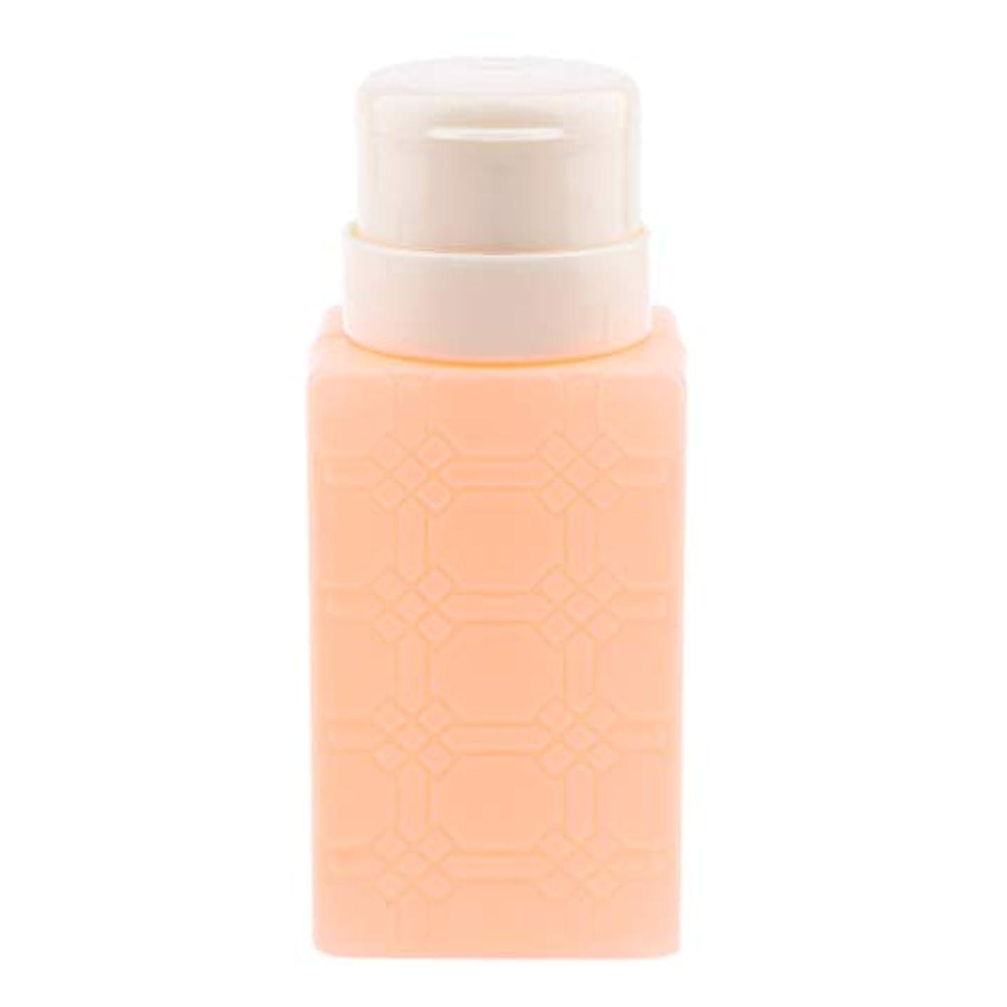 いつ入場料海洋の200ml ネイルアート ディスペンサーポンプボトル ネイルサロン 4色選べ - オレンジ