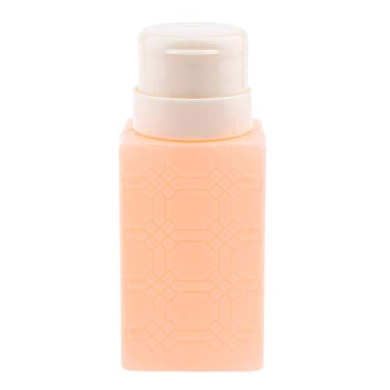 教育者戸惑うアデレードP Prettyia 200ml ネイルアート ディスペンサーポンプボトル ネイルサロン 4色選べ - オレンジ