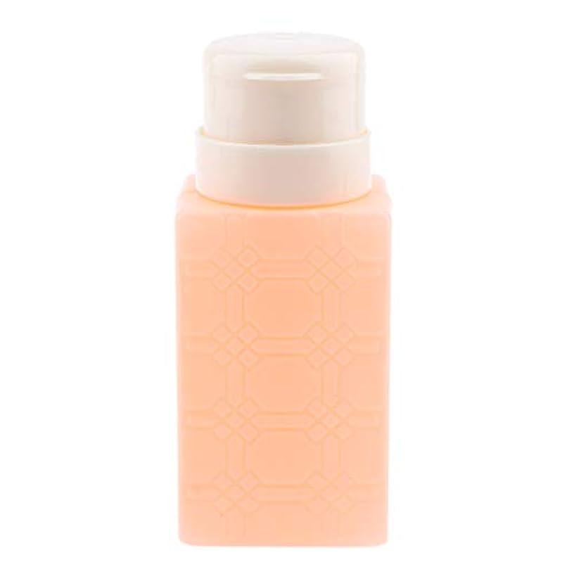 ラッカスレバーうんP Prettyia 200ml ネイルアート ディスペンサーポンプボトル ネイルサロン 4色選べ - オレンジ