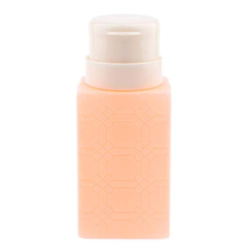 露出度の高いやるうねる200ml ネイルアート ディスペンサーポンプボトル ネイルサロン 4色選べ - オレンジ
