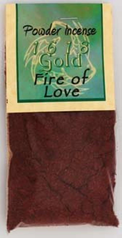 火のLoveパウダーIncense 1618ゴールド
