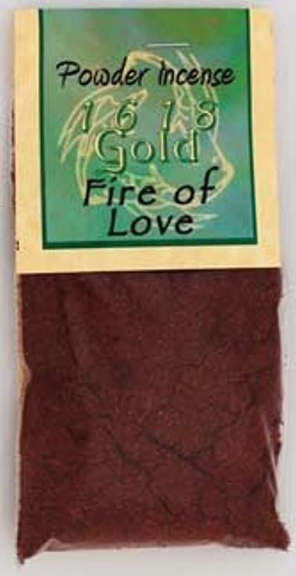 予測子八百屋驚くばかり火のLoveパウダーIncense 1618ゴールド