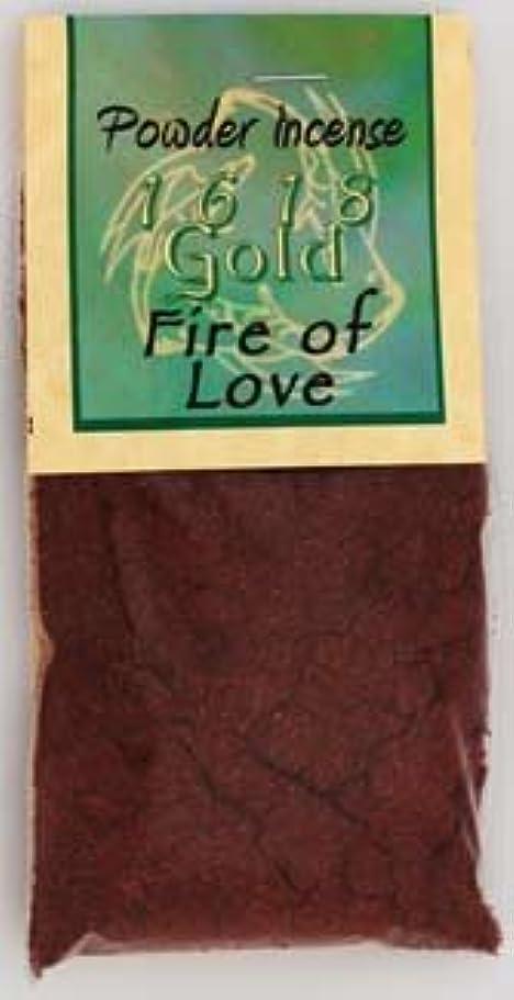 生き返らせるそうでなければパッチ火のLoveパウダーIncense 1618ゴールド