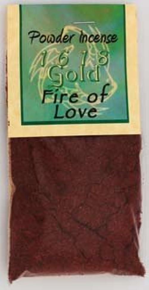 カバレッジかなり人火のLoveパウダーIncense 1618ゴールド
