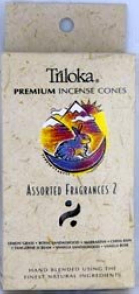 成人期チョコレート熱帯のTriloka Incense Cones – Assorted Fragrancesグループ2