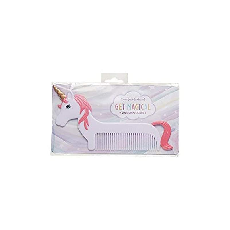 民主党湿気の多い子猫Magical Unicorn Pink Mane 6 x 3 Inch Hair Comb [並行輸入品]