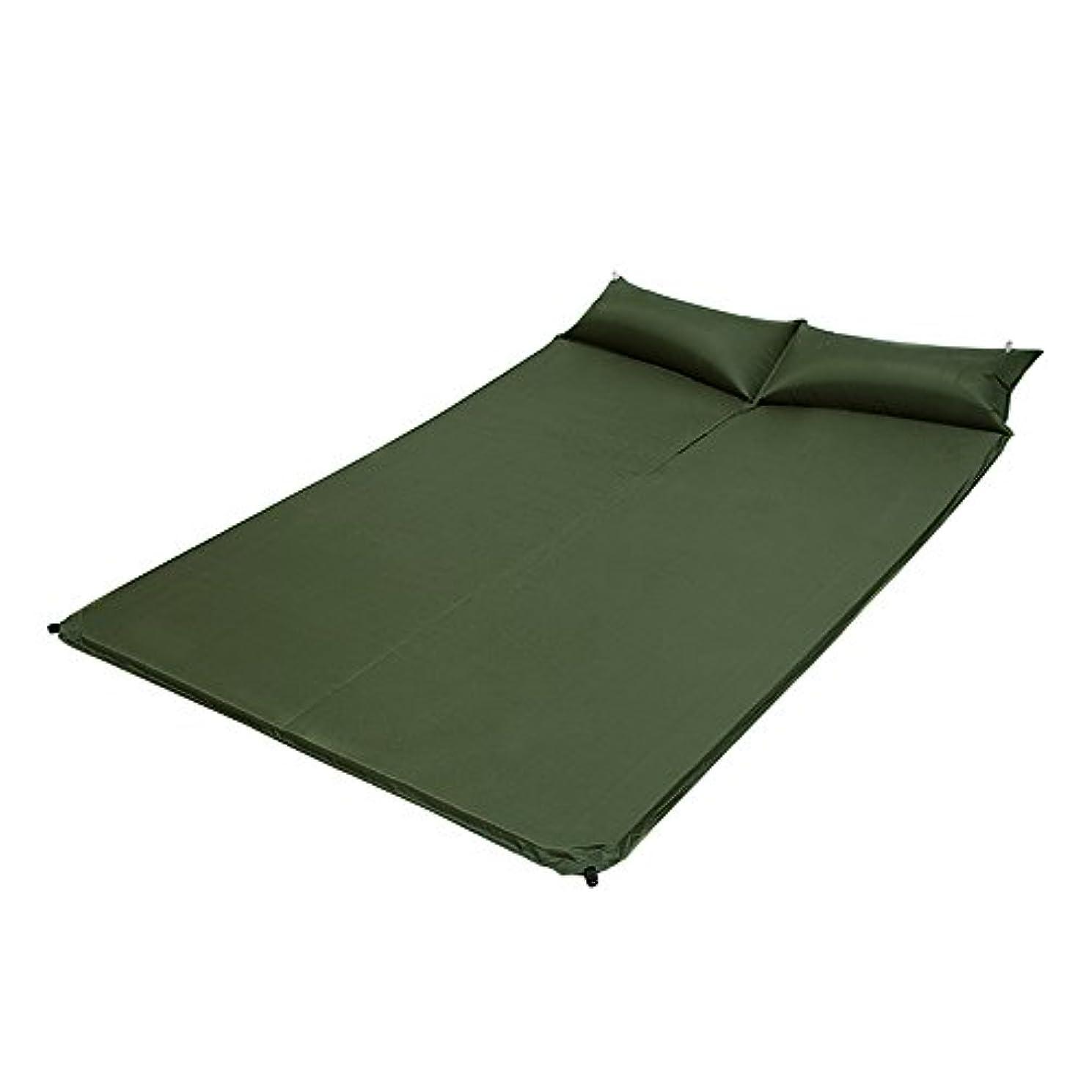 スペース遡る鉛屋外枕の自動インフレータブルクッションキャンプダブルモイスチャライティングマットテント寝袋