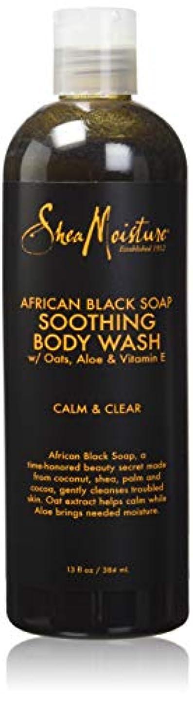 成人期山悲しいことにShea Moisture African Black Soap Body Wash 385 ml by Shea Moisture