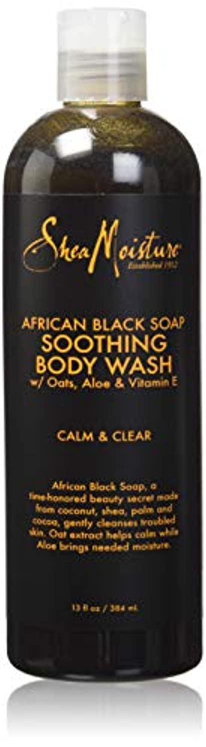 しおれた音楽昇進Shea Moisture African Black Soap Body Wash 385 ml by Shea Moisture