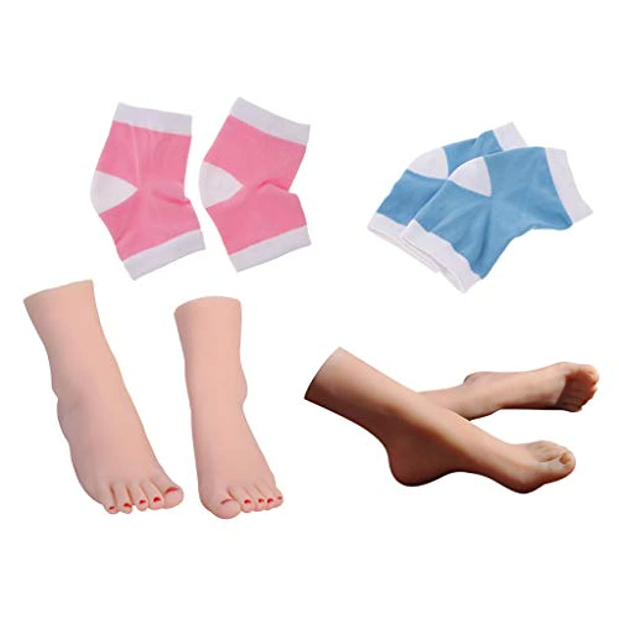 解説ヒット航海CUTICATE 足モデル 宝石類 指輪 足首 靴下 ディスプレイモデル + 2組の 足の袖 足用スリーブ