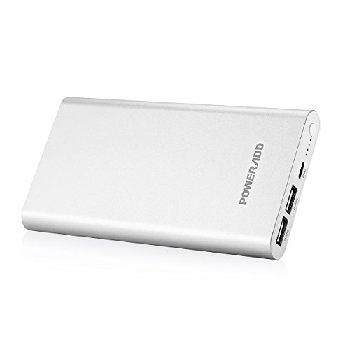 Poweradd Pilot 4GS モバイルバッテリー 12000mAh lightning入力 iPhone / iPad / iPod / Nexus / Xperia等対応 Apple MFI ライトニングケーブル付け(シルバー)