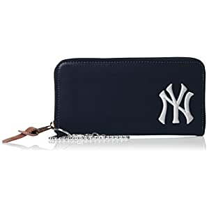 [メジャーリーグベースボール] ウォレット 財布 合皮 ヤンキース 刺繍ロゴ YK-1406P-01 NAVY ネイビー