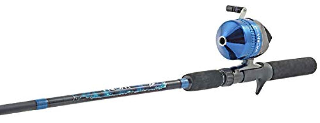 徹底的にけがをする作成するSouth Bendウォームギア釣り竿とSpincastリールコンボオレンジ、ブルーorグリーン)