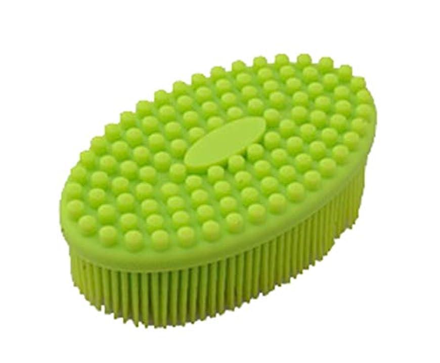 バクテリア反対に取り消すMaltose 背中ブラシ シリコン ボディブラシ お風呂用 体洗い 無臭 腐りにくい 血行促進 角質除去 美肌効果 バスグッズ