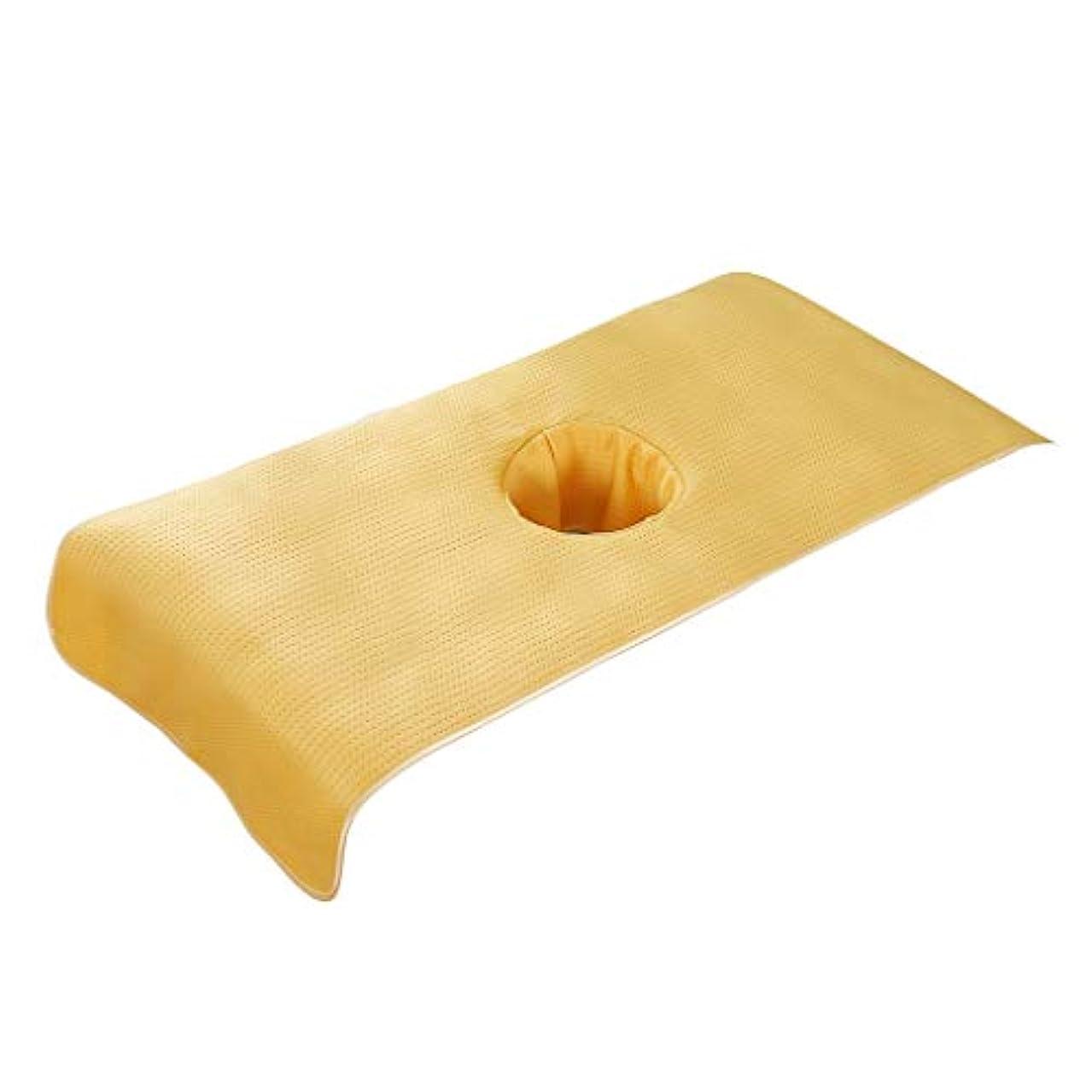 後悔インゲン冷笑するPETSOLA 高品質 マッサージベッドカバー 有孔 美容ベッドカバー マッサージテーブルスカート SPA ベッドシーツ - 黄