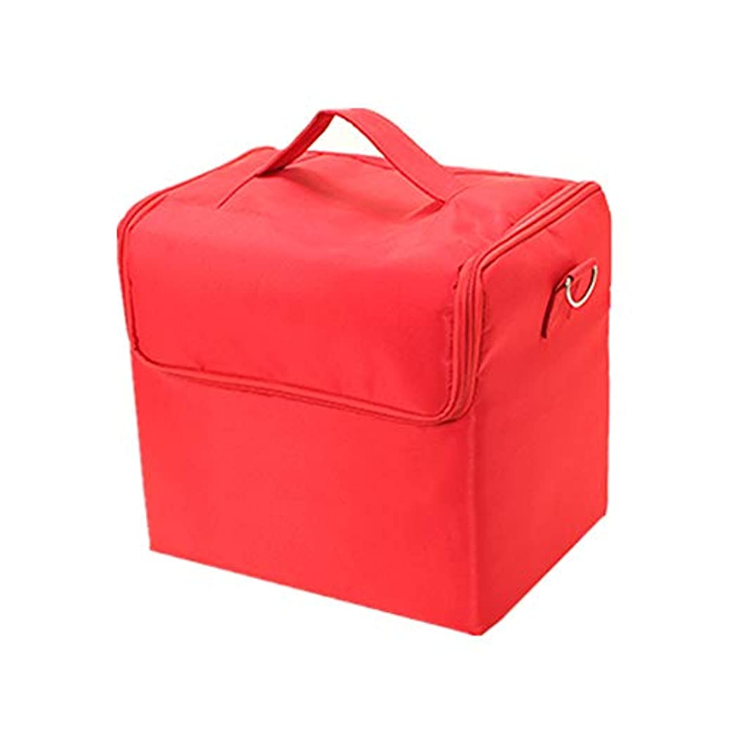 協力的なんとなく切る化粧オーガナイザーバッグ 純粋な色のカジュアルポータ??ブル化粧品バッグ美容メイクアップとトラベルで旅行 化粧品ケース