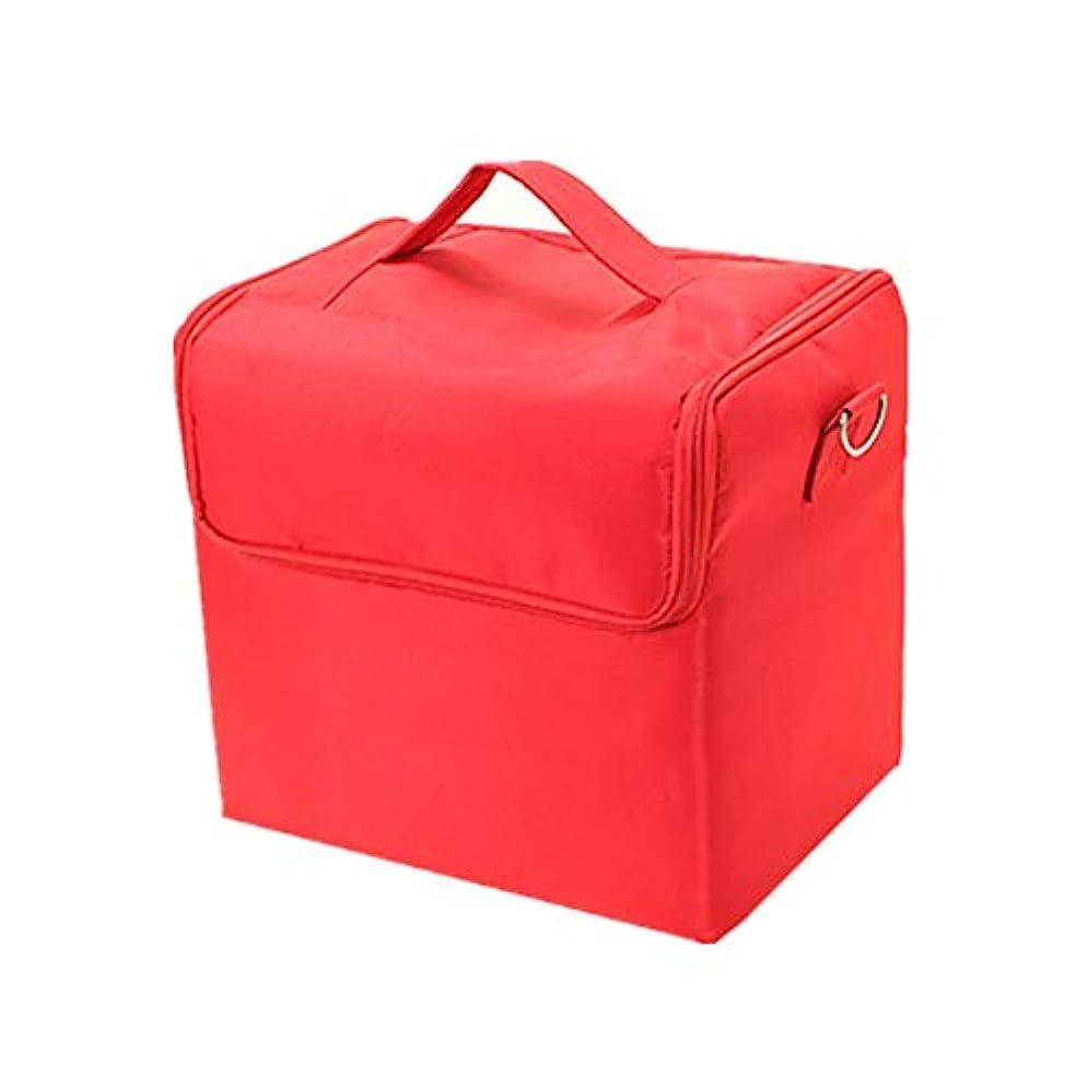 化粧オーガナイザーバッグ 純粋な色のカジュアルポータ??ブル化粧品バッグ美容メイクアップとトラベルで旅行 化粧品ケース