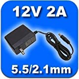 【PSE取得品】12V2A 汎用 ACアダプター スイッチング方式安定化電源 プラグ外径5.5mm(内径2.1mm) (12V/2A)