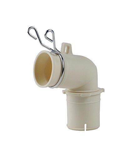洗濯機用排水トラップエルボ φ31ミリ φ36ミリ 兼用 バンド付 437-202