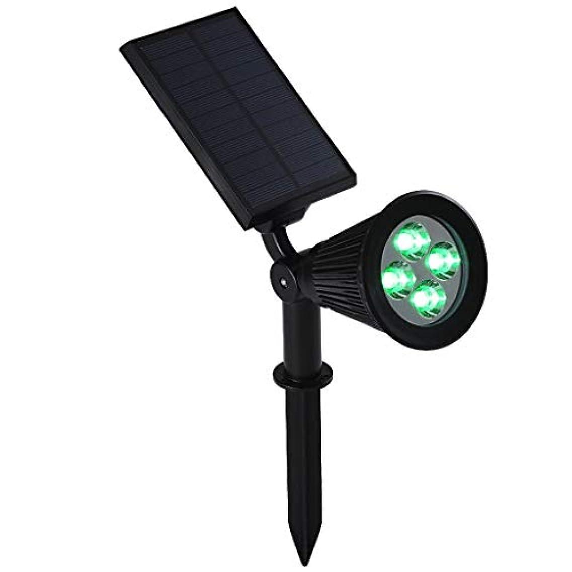 慎重尋ねるピカソZXHソーラースポットライト屋外、IP65防水ソーラーガーデンライト4 LEDセキュリティスポットライト壁、木、パティオ、ガレージ、庭、経路のソーラーランプ (Color : Blue light)