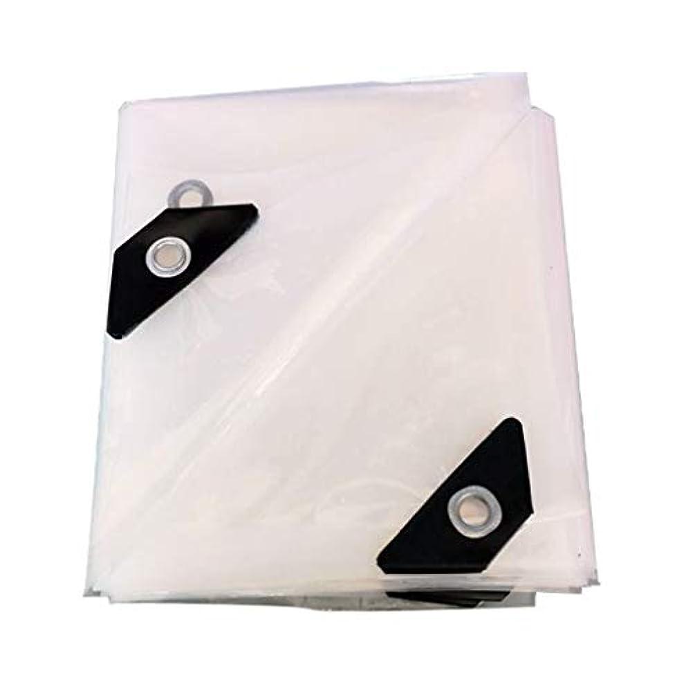 わずかな均等にデザイナー厚みのある防水シート防水ポンチョホワイト透明プラスチックフィルム温室断熱材防風布UV耐性キャンプカバーシェルター0.12ミリメートル