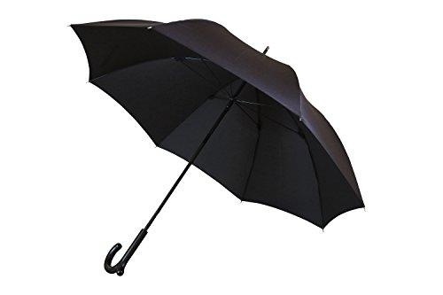 ランブレラ 全5色 長傘 手開き ブラック 5本骨 65cm 日本製 グラスファイバー骨 2