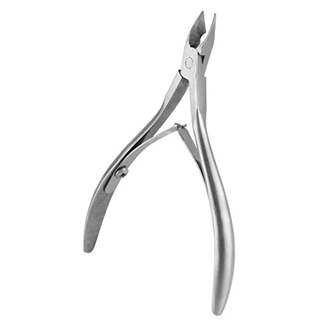 旋律的ダイヤル固体爪切り ニッパー キューティクルニッパー 甘皮切り ステンレス製 ダブルスプリング (シルバー)