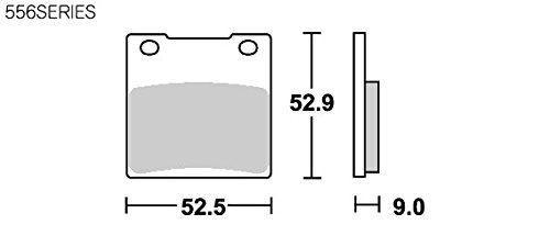 SBS ブレーキパッド 556HF セラミック GSX400 インパルス SV400/S バンディット400 GSX-R400/600/750/1100 GSX1300R ハヤブサ Z250FT ZRX1100 等 777-0556000
