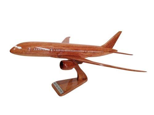 MocPro木製エアプレーンモデル 木製飛行機模型 ボーイング787ドリームライナー