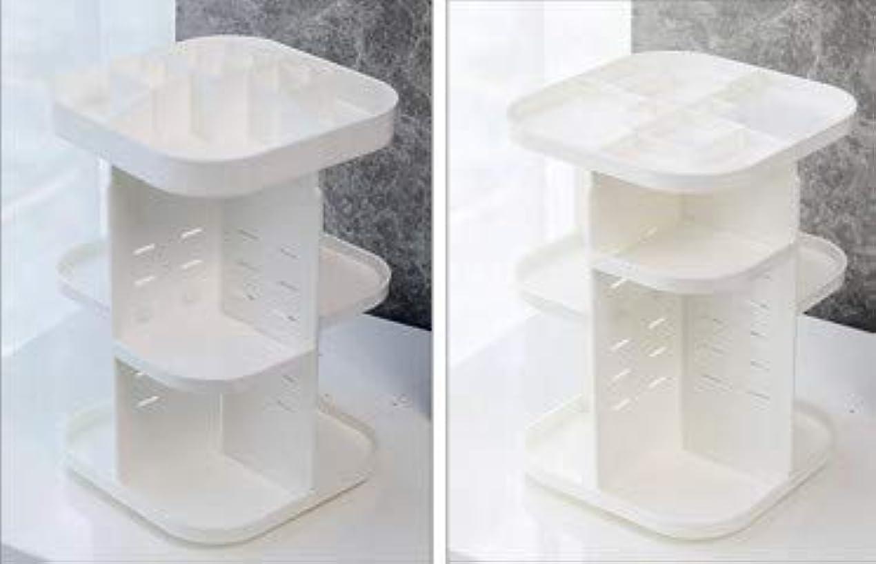 標準特別に入浴化粧品収納ボックス透明アクリル回転プラスチックスキンケアラウンドクリエイティブドレッシングテーブルデスクトップ収納 (Size : M)
