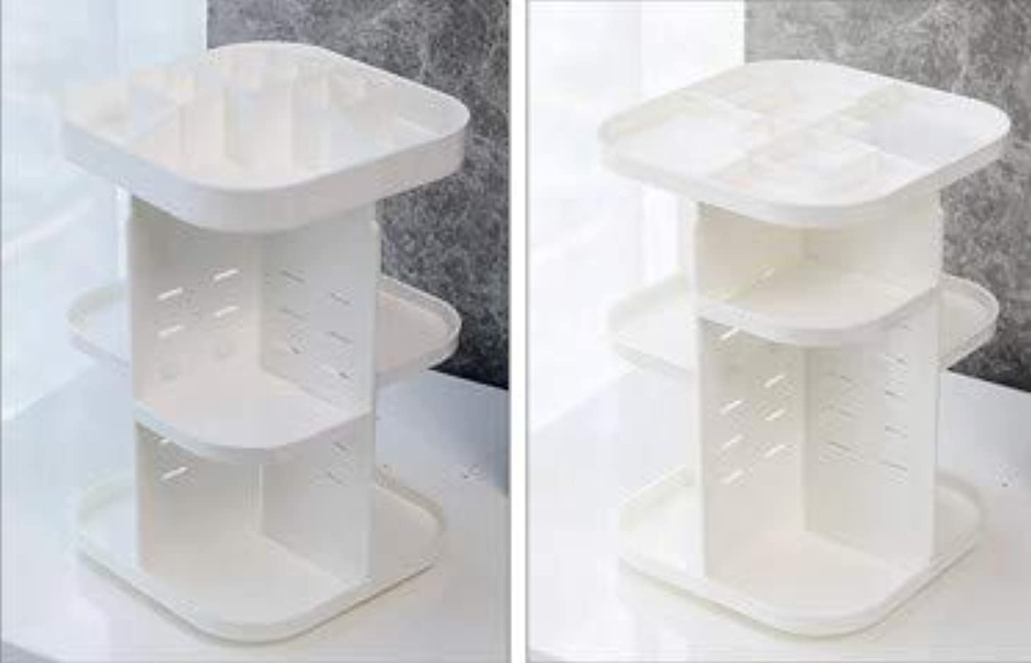 ぼろ色合いムス化粧品収納ボックス透明アクリル回転プラスチックスキンケアラウンドクリエイティブドレッシングテーブルデスクトップ収納 (Size : M)