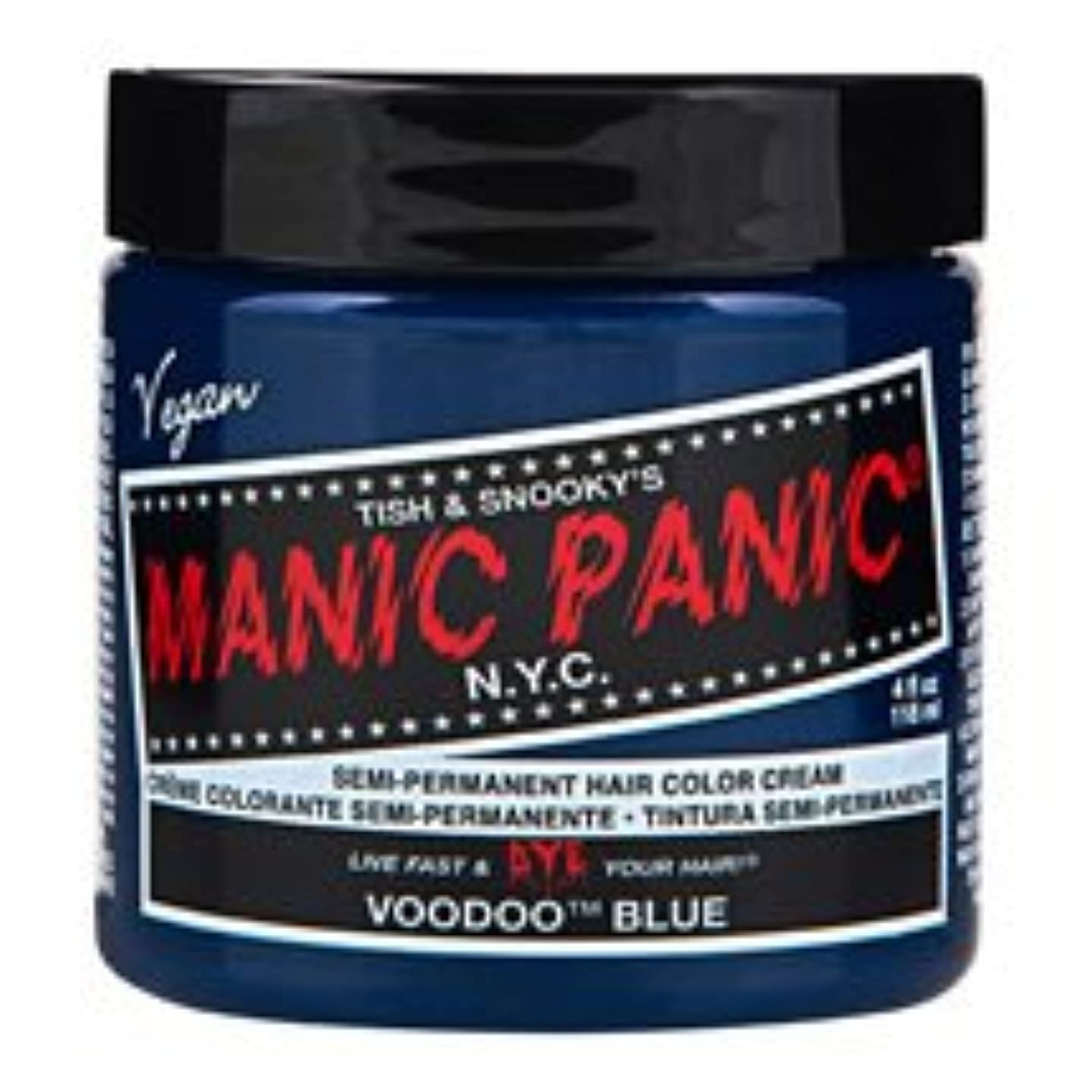わかりやすい証明するご注意スペシャルセットMANIC PANICマニックパニック:Voodoo Blue (ブゥードゥーブルー)+ヘアカラーケア4点セット
