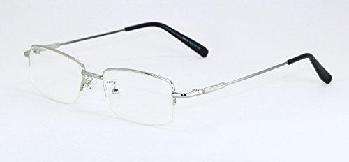 CB ブルーライトカットメガネ パソコン・スマホ・タブレット使用時に! シルバーのメタルフレームでとってもオシャレ。TYPE S8006S