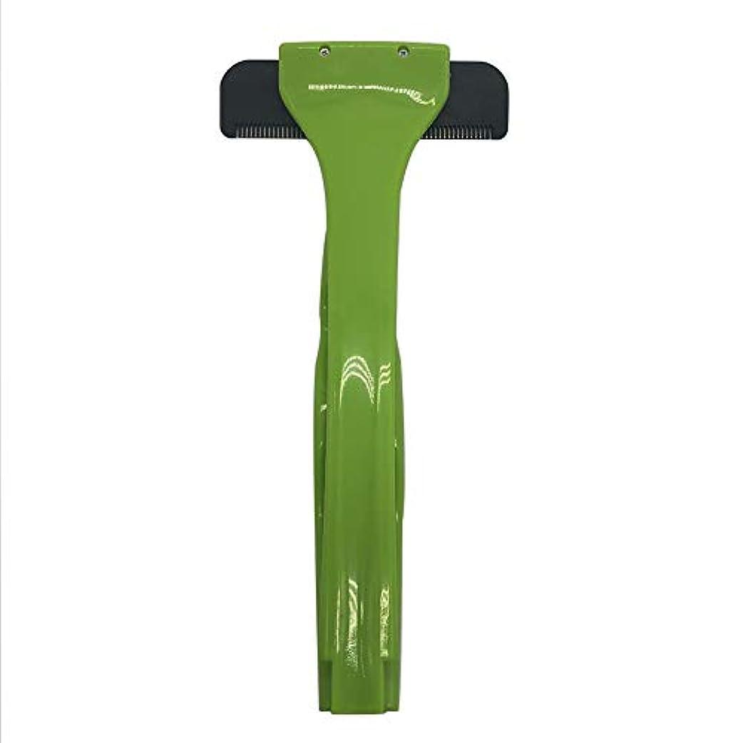 前述の礼拝貸すバックヘアーボディシェーバーかみそり、2019年更新バージョン拡張滑走剃刀安全スリップ防止ハンドル付きスリップ防止ハンドル