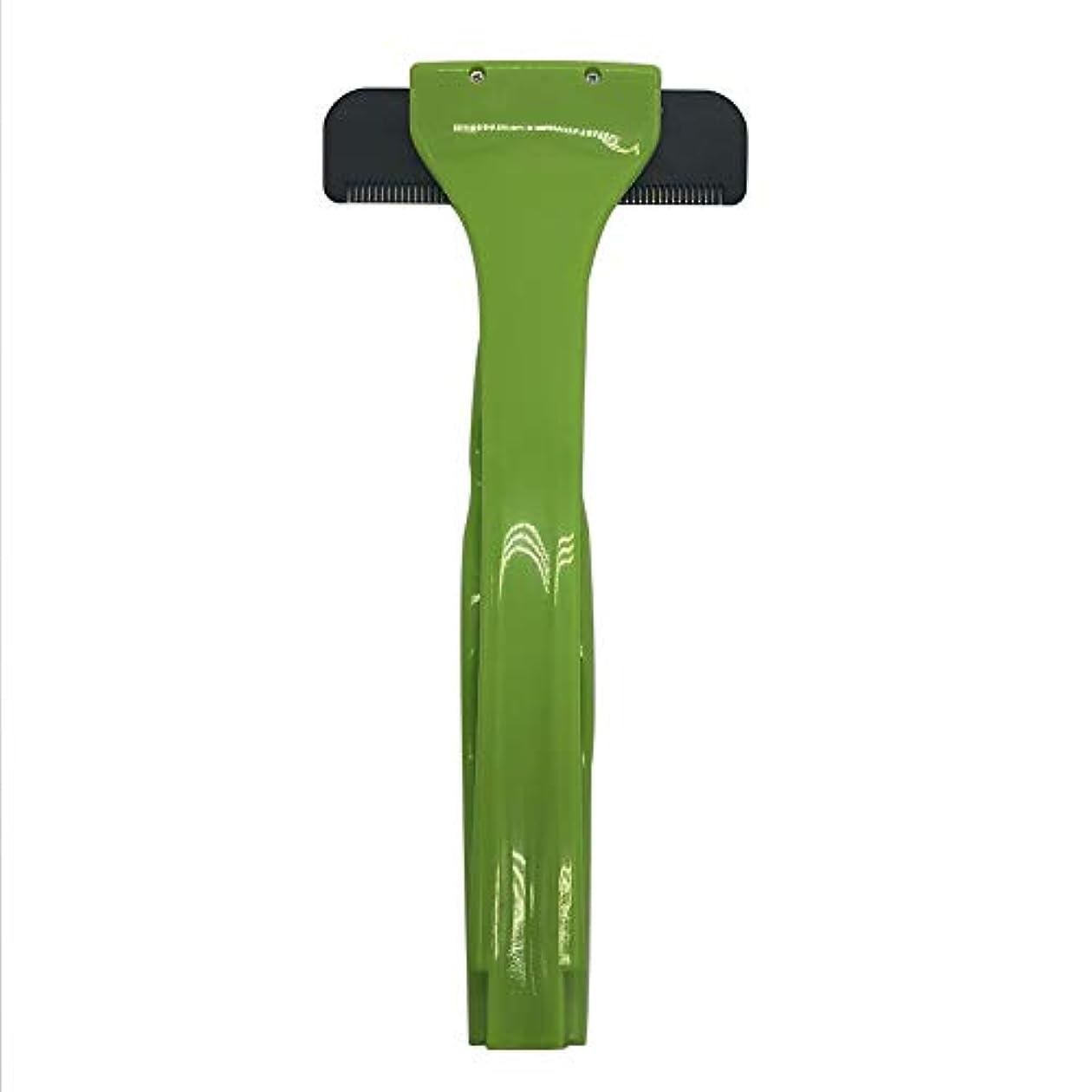 ひそかに驚動機バックヘアーボディシェーバーかみそり、2019年更新バージョン拡張滑走剃刀安全スリップ防止ハンドル付きスリップ防止ハンドル